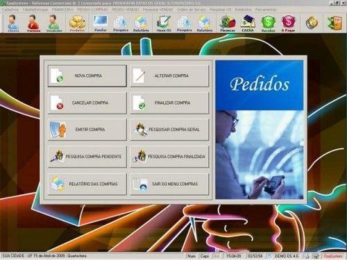 Programa Ordem de Serviços Gerais, Vendas, Estoque e Financeiro v4.6  FpqSystem 2641