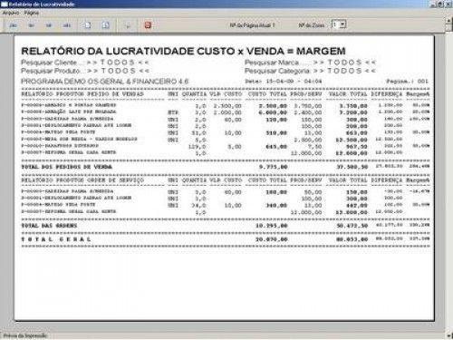 Programa Ordem de Serviços Gerais, Vendas, Estoque e Financeiro v4.6  FpqSystem 2649