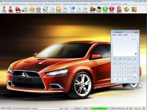 Programa para Oficina Mecânica para Veiculos em Geral, Vendas e Financeiro v4.0 FpqSystem 97776
