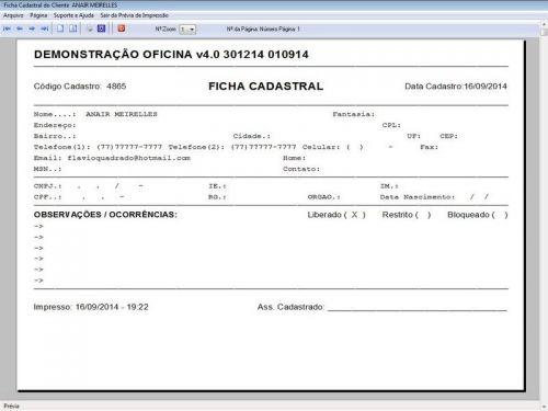 Programa para Oficina Mecânica para Veiculos em Geral, Vendas e Financeiro v4.0 FpqSystem 97781