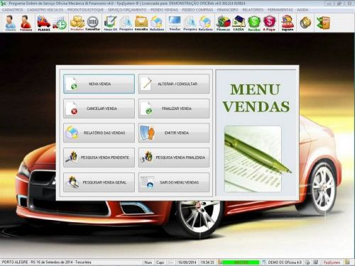 Programa para Oficina Mecânica para Veiculos em Geral, Vendas e Financeiro v4.0 FpqSystem 97784