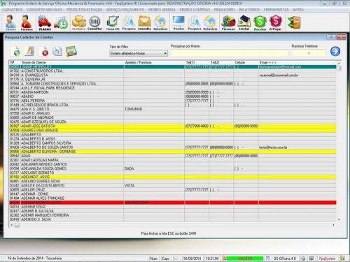 Programa para Oficina Mecânica para Veiculos em Geral, Vendas e Financeiro v4.0 FpqSystem 97786