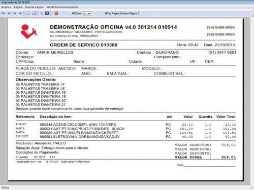 Programa para Oficina Mecânica para Veiculos em Geral, Vendas e Financeiro v4.0 FpqSystem 97790