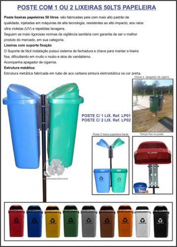 Lixeiras 50lts com tampa para Condomínios e empresas em Porto Alegre 412909