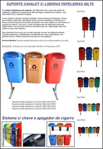 Lixeiras 50lts com tampa para Condomínios e empresas em Porto Alegre 412910