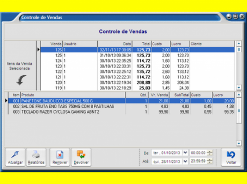 Controle de Estoque Caixa Vendas e Pdv Frente de Caixa  Pdv Prático  Fênix Aplicativos 33425