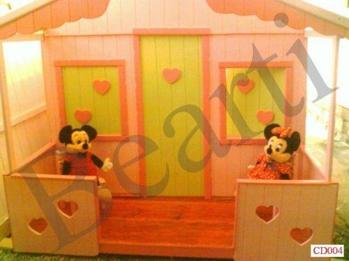 Casinha para menina em madeira 16m x 19m x 19m Modelo Cd004  casa de boneca casa de brincar 46576