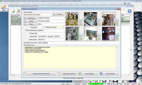 Programa Ordem de Serviço Assistencia Tecnica, Vendas, Estoque e Financeiro v5.0 Plus 58440