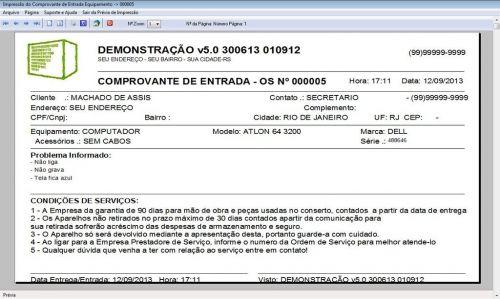 Programa Ordem de Serviço Assistencia Tecnica, Vendas, Estoque e Financeiro v5.0 Plus 58447