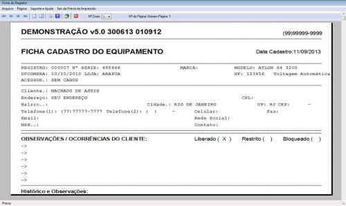 Programa Ordem de Serviço Assistencia Tecnica, Vendas, Estoque e Financeiro v5.0 Plus 58454