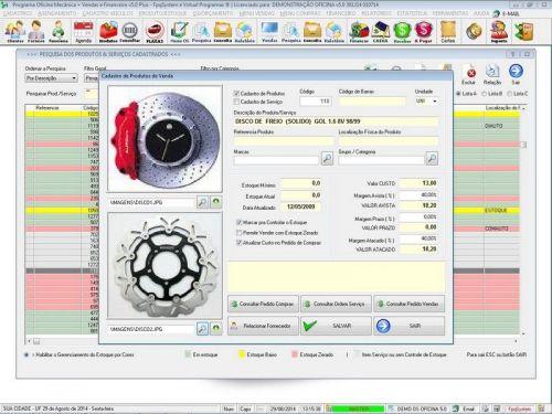 Programa para Oficina Mecânica com Check List + Vendas e Financeiro v5.0 92489