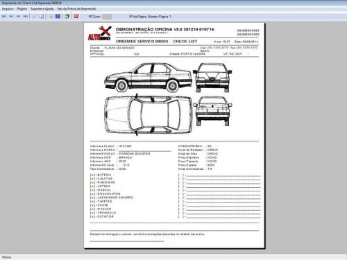 Programa para Oficina Mecânica com Check List + Vendas e Financeiro v5.0 92490