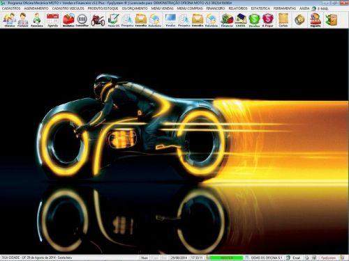 Programa para Oficina Mecânica MOTO com Check List + Vendas e Financeiro v5.1 PLUS 92503
