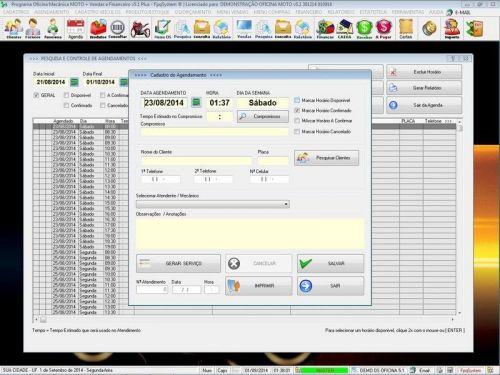 Programa para Oficina Mecânica MOTO com Check List + Vendas e Financeiro v5.1 PLUS 92505