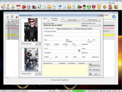 Programa para Oficina Mecânica MOTO com Check List + Vendas e Financeiro v5.1 PLUS 92506