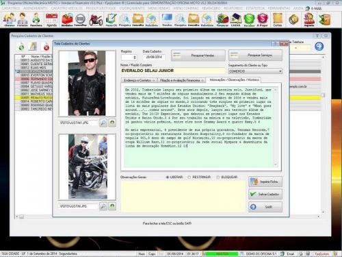 Programa para Oficina Mecânica MOTO com Check List + Vendas e Financeiro v5.1 PLUS 92507