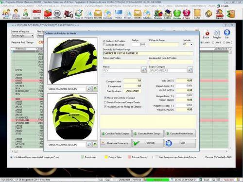 Programa para Oficina Mecânica MOTO com Check List + Vendas e Financeiro v5.1 PLUS 92508