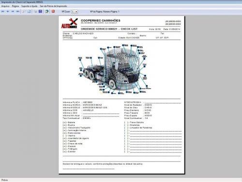 Programa para Oficina Mecânica CAMINHÃO com Check List + Vendas e Financeiro v5.2 PLUS 92530