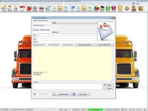 Programa para Oficina Mecânica CAMINHÃO com Check List + Vendas e Financeiro v5.2 PLUS 92532