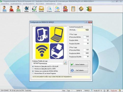 Programa Assistência Técnica, Ordem de Serviço e Orçamento v1.0 FpqSystem 96364