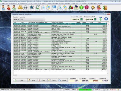 Programa Assistência Técnica, Ordem de Serviço, Orçamento e Financeiro v4.0 - Fpqsystem 96574