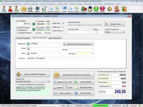 Programa Assistência Técnica, Ordem de Serviço, Orçamento e Financeiro v4.0 - Fpqsystem 96578