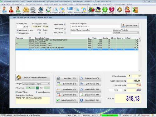 Programa Assistência Técnica, Ordem de Serviço, Orçamento e Financeiro v4.0 - Fpqsystem 96583
