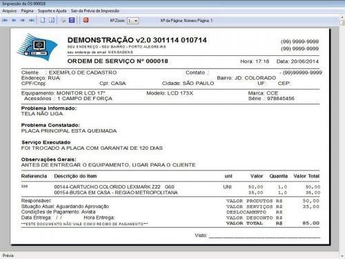 Programa Assistência Técnica, Ordem de Serviço, Orçamento e Produtos v2.0 - Fpqsystem 96605