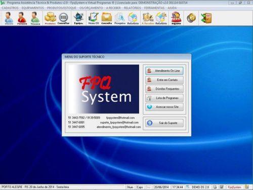 Programa Assistência Técnica, Ordem de Serviço, Orçamento e Produtos v2.0 - Fpqsystem 96620