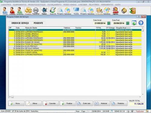 Programa para Assistência Técnica, Ordem de Serviço, Orçamento e Vendas v3.0 - Fpqsystem 96625