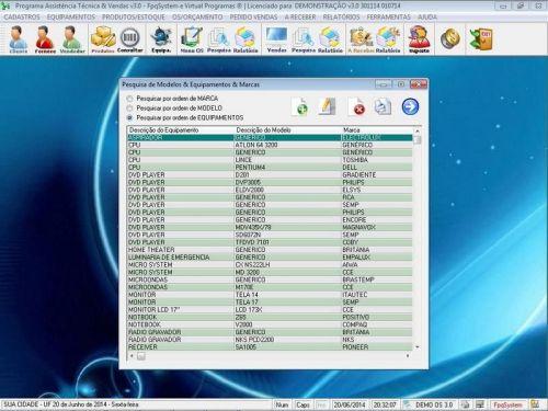 Programa para Assistência Técnica, Ordem de Serviço, Orçamento e Vendas v3.0 - Fpqsystem 96629