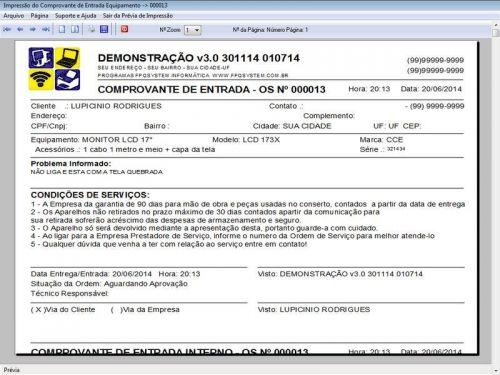 Programa para Assistência Técnica, Ordem de Serviço, Orçamento e Vendas v3.0 - Fpqsystem 96631