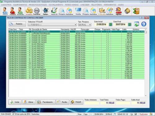 Programa para Assistência Técnica, Ordem de Serviço, Orçamento e Vendas v3.0 - Fpqsystem 96634