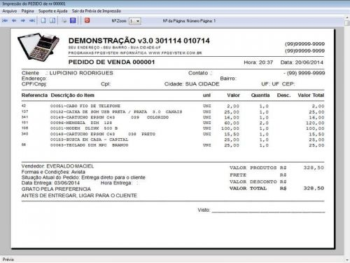 Programa para Assistência Técnica, Ordem de Serviço, Orçamento e Vendas v3.0 - Fpqsystem 96639