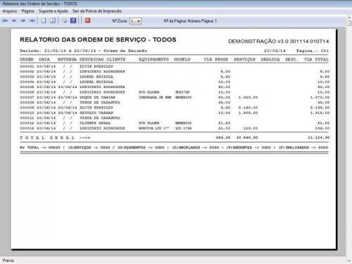 Programa para Assistência Técnica, Ordem de Serviço, Orçamento e Vendas v3.0 - Fpqsystem 96640