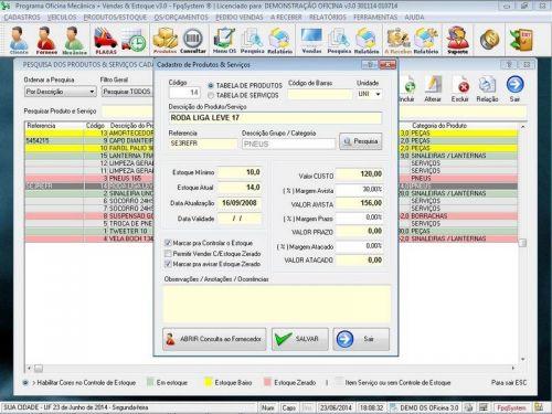 Programa para Oficina Mecânica com OS, Orçamento e Cadastro de Placas v3.0 - Fpqsystem 97549