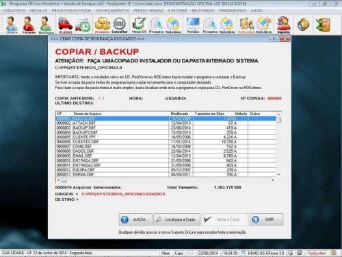 Programa para Oficina Mecânica com OS, Orçamento e Cadastro de Placas v3.0 - Fpqsystem 97550