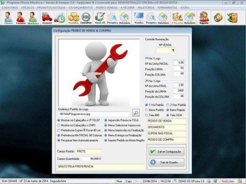 Programa para Oficina Mecânica com OS, Orçamento e Cadastro de Placas v3.0 - Fpqsystem 97552