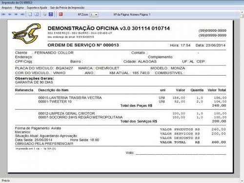 Programa para Oficina Mecânica com OS, Orçamento e Cadastro de Placas v3.0 - Fpqsystem 97553