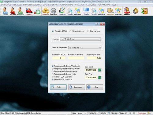 Programa para Oficina Mecânica com OS, Orçamento e Cadastro de Placas v3.0 - Fpqsystem 97555
