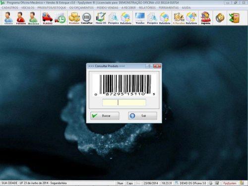 Programa para Oficina Mecânica com OS, Orçamento e Cadastro de Placas v3.0 - Fpqsystem 97556