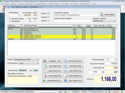 Programa para Oficina Mecânica com OS, Orçamento e Cadastro de Placas v3.0 - Fpqsystem 97557