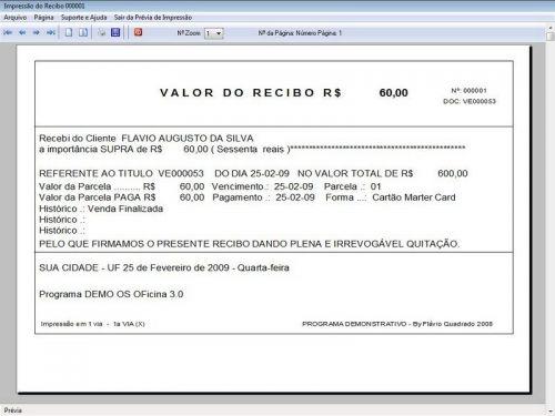 Programa para Oficina Mecânica com OS, Orçamento e Cadastro de Placas v3.0 - Fpqsystem 97561
