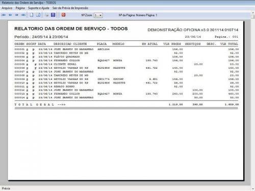 Programa para Oficina Mecânica com OS, Orçamento e Cadastro de Placas v3.0 - Fpqsystem 97562