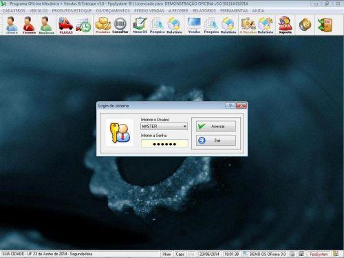Programa para Oficina Mecânica com OS, Orçamento e Cadastro de Placas v3.0 - Fpqsystem 97564