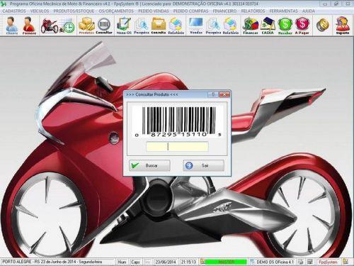 Programa para Oficina Mecânica Moto, OS, Orçamento e Cadastro de Placas v4.1 - Fpqsystem 97567