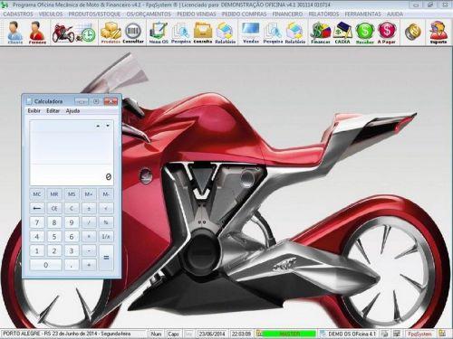 Programa para Oficina Mecânica Moto, OS, Orçamento e Cadastro de Placas v4.1 - Fpqsystem 97571