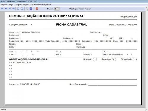 Programa para Oficina Mecânica Moto, OS, Orçamento e Cadastro de Placas v4.1 - Fpqsystem 97573