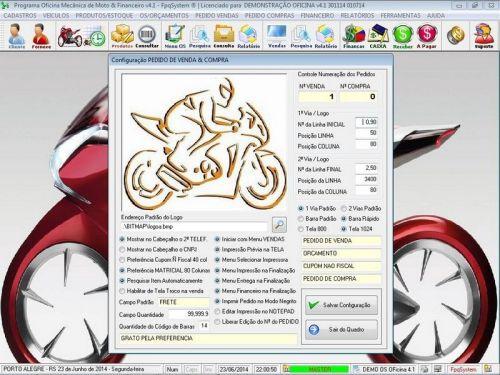 Programa para Oficina Mecânica Moto, OS, Orçamento e Cadastro de Placas v4.1 - Fpqsystem 97579