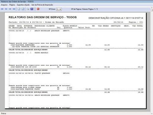 Programa para Oficina Mecânica Moto, OS, Orçamento e Cadastro de Placas v4.1 - Fpqsystem 97583